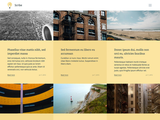 Szablon graficzny dostępny w pakiecie Click Web Unlimited - Scribe