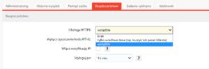 Włącz bezpieczne połączenie HTTPS w sklepie