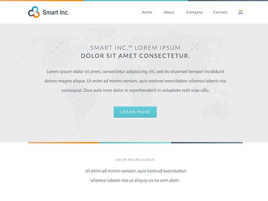 Szablon graficzny dostępny w pakiecie Click Web Unlimited - Smart Inc