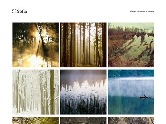 Szablon graficzny dostępny w pakiecie Click Web Unlimited - Sofia