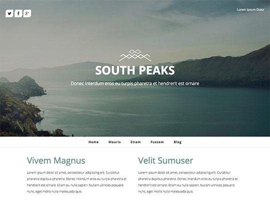 Szablon graficzny dostępny w pakiecie Click Web Unlimited - South Peaks