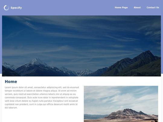Szablon graficzny dostępny w pakiecie Click Web Unlimited - Specify
