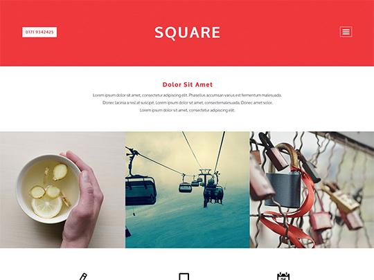 Szablon graficzny dostępny w pakiecie Click Web Unlimited - Square