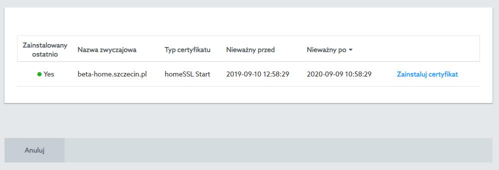 Instalacja certyfikatu SSL w sklepie internetowym home.pl