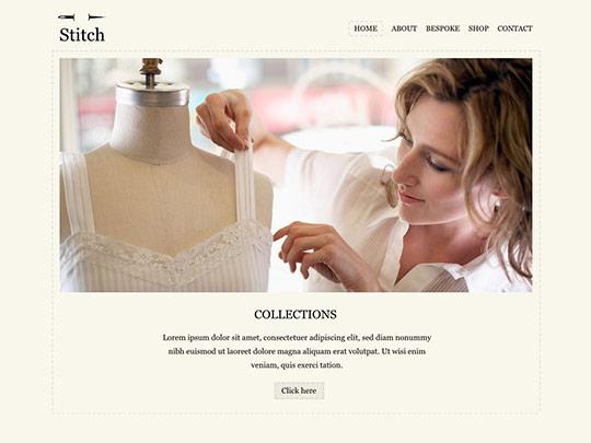 Szablon graficzny dostępny w pakiecie Click Web Unlimited - Stitch