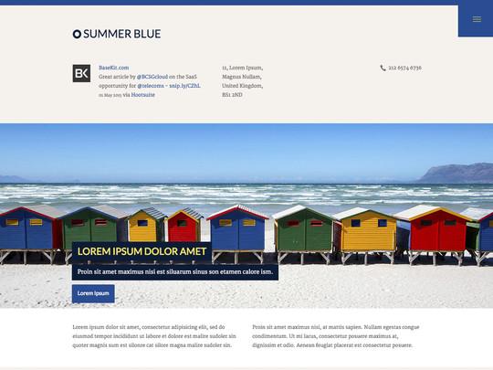 Szablon graficzny dostępny w pakiecie Click Web Unlimited - Summer Blue