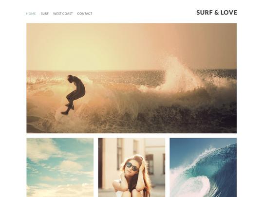 Szablon graficzny dostępny w pakiecie Click Web Unlimited - Surf love