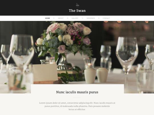 Szablon graficzny dostępny w pakiecie Click Web Unlimited - The Swan