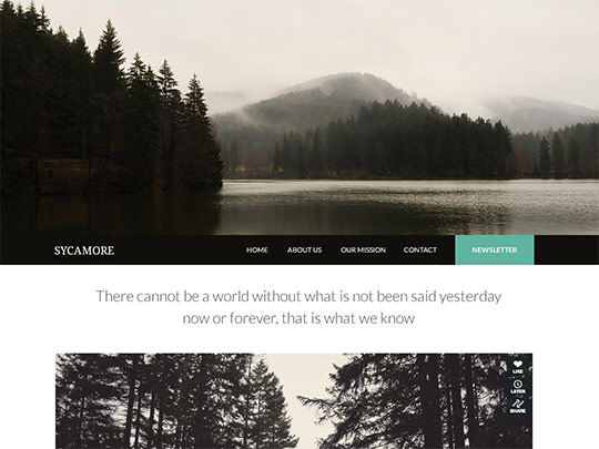 Szablon graficzny dostępny w pakiecie Click Web Unlimited - Sycamore