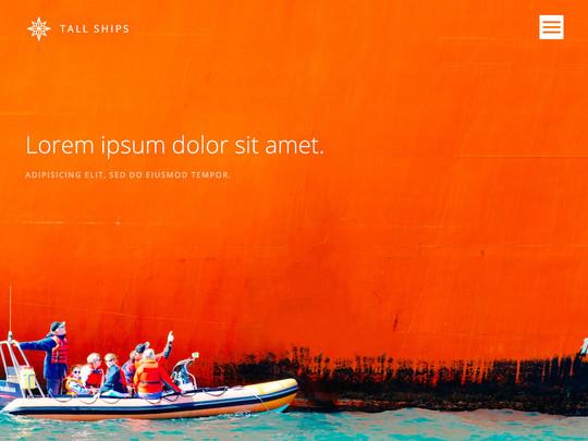 Szablon graficzny dostępny w pakiecie Click Web Unlimited - Tall Ships