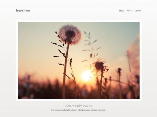 Szablon graficzny dostępny w pakiecie Click Web Unlimited - Transition