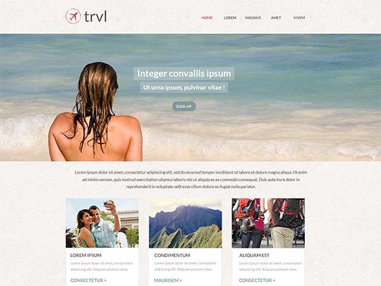 Szablon graficzny dostępny w pakiecie Click Web Unlimited - Trvl