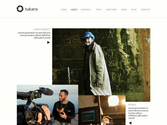 Szablon graficzny dostępny w pakiecie Click Web Unlimited - Tukana