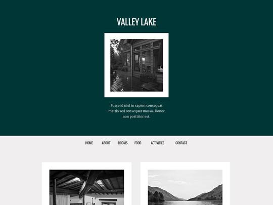 Szablon graficzny dostępny w pakiecie Click Web Unlimited - Valley Lake