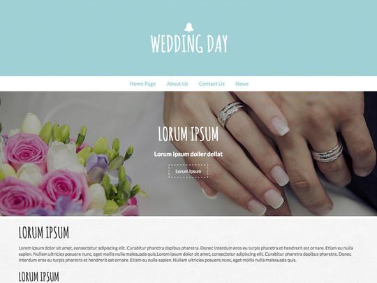 Szablon graficzny dostępny w pakiecie Click Web Unlimited - Wedding Day