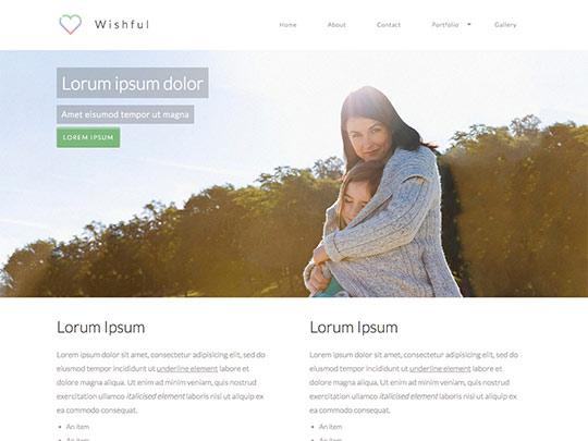 Szablon graficzny dostępny w pakiecie Click Web Unlimited - Wishful