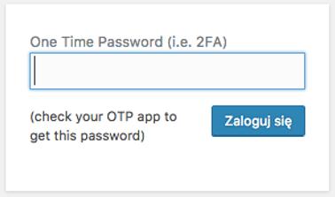 WordPress - Ustawienia - Ustawienia ogólne - One Time Password (2FA) - Ustaw dwustopniowe uwierzytelnianie