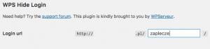 WordPress - WPS Hide Login - Login URL - Ustal nową ścieżkę do logowania