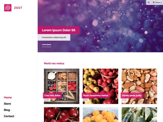 Szablon graficzny dostępny w pakiecie Click Web Unlimited - Zest