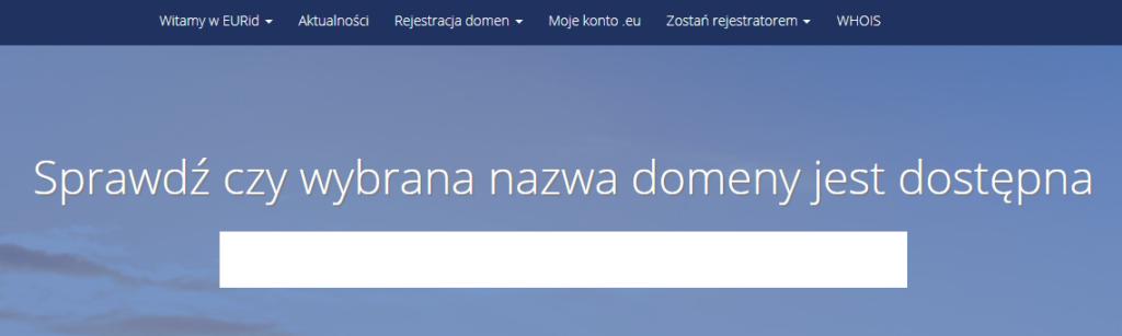Jak samodzielnie uzyskać kod AuthInfo dla domeny EU?