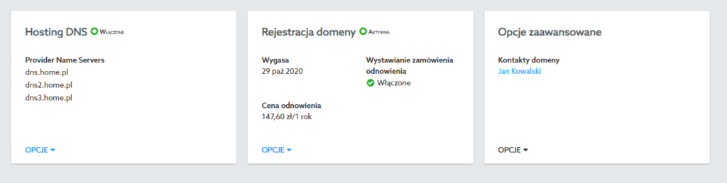 Potwierdzanie danych kontaktowych przy domenie globalnej (ClientHold)