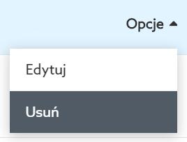 Kliknij przycisk Usuń przy rekordzie, aby usunąć wskazany rekord domeny.