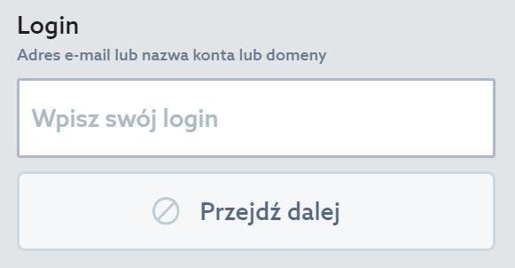 Customer Panel - Recover password - Enter the name of your account