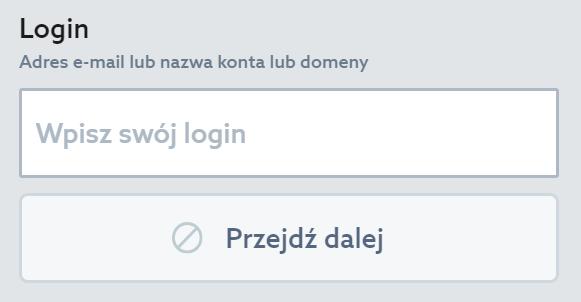 Panel Klienta home.pl - Okno logowania - Odzyskaj hasło - W polu Login wprowadź nazwę Twojego konta