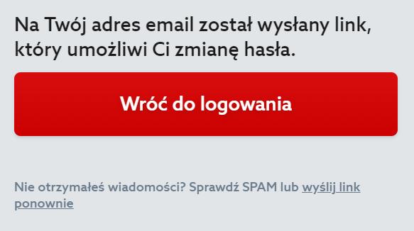 Panel Klienta home.pl - Okno logowania - Odzyskaj hasło - Login - Na twój adres e-mail został wysłany link, który umożliwi Ci zmianę hasła - Kliknij link znajdujący się w treści wiadomości e-mail