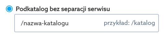 Przekieruj swoją domenę na katalog bez separacji serwisu