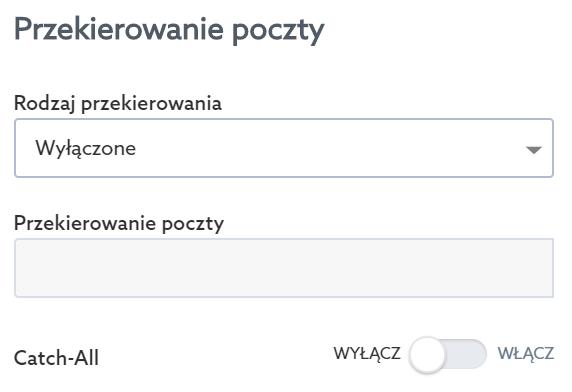 Panel Klienta home.pl - Usługi WWW - Serwer - Opcje - Przypisz domenę - Przekierowanie poczty - Zmień ustawienia przekierowania poczty, jeśli nie chcesz, aby poczta e-mail przychodziła na hosting w home.pl