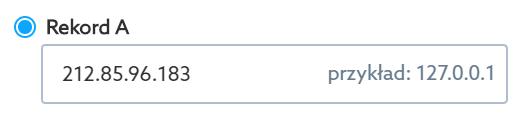 Przekieruj domenę na inny adres IP za pomocą rekordu A