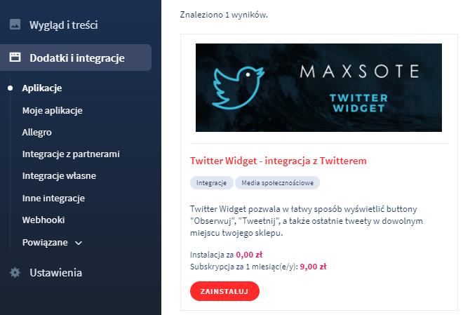 Aplikacja: Twitter Widget – integracja z Twitterem