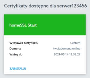 Zainstalowany SSL