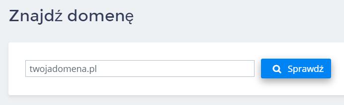 Panel klienta home.pl - Domeny - Dodaj nową domenę - Zarejestruj nową domenę - Znajdź domenę - Sprawdź czy adres domeny jest wolny