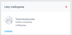 Lista mailingowa w Panelu Klienta home.pl
