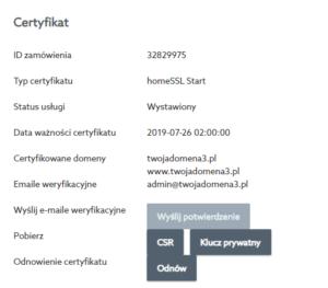 Certyfikat SSL - jaki adres e-mail