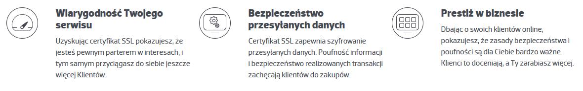 Certyfikat SSL - Wiarygodność Twojego serwisu - Bezpieczeństwo przesyłanych danych - Prestiż w biznesie
