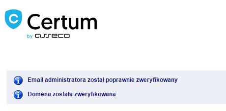 Centrum by asseco - Weryfikuj - Przykładowy widok potwierdzenia operacji