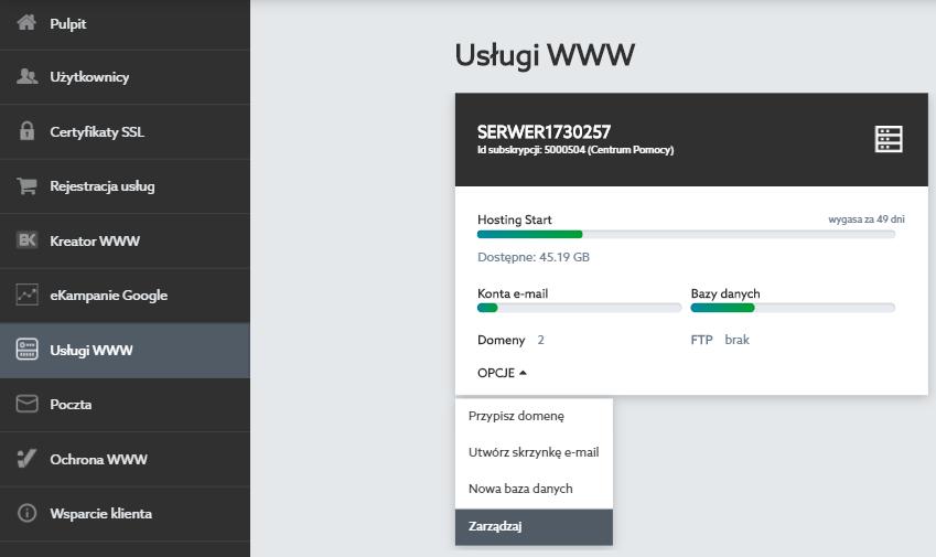 Jak wyświetlić wszystkie skrzynki utworzone na serwerze?