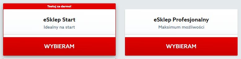 Home.pl - Sklepy - Sklepy internetowe - Pakiety usług - Kliknij przycisk Wybieram pod właściwą usługą eSklep