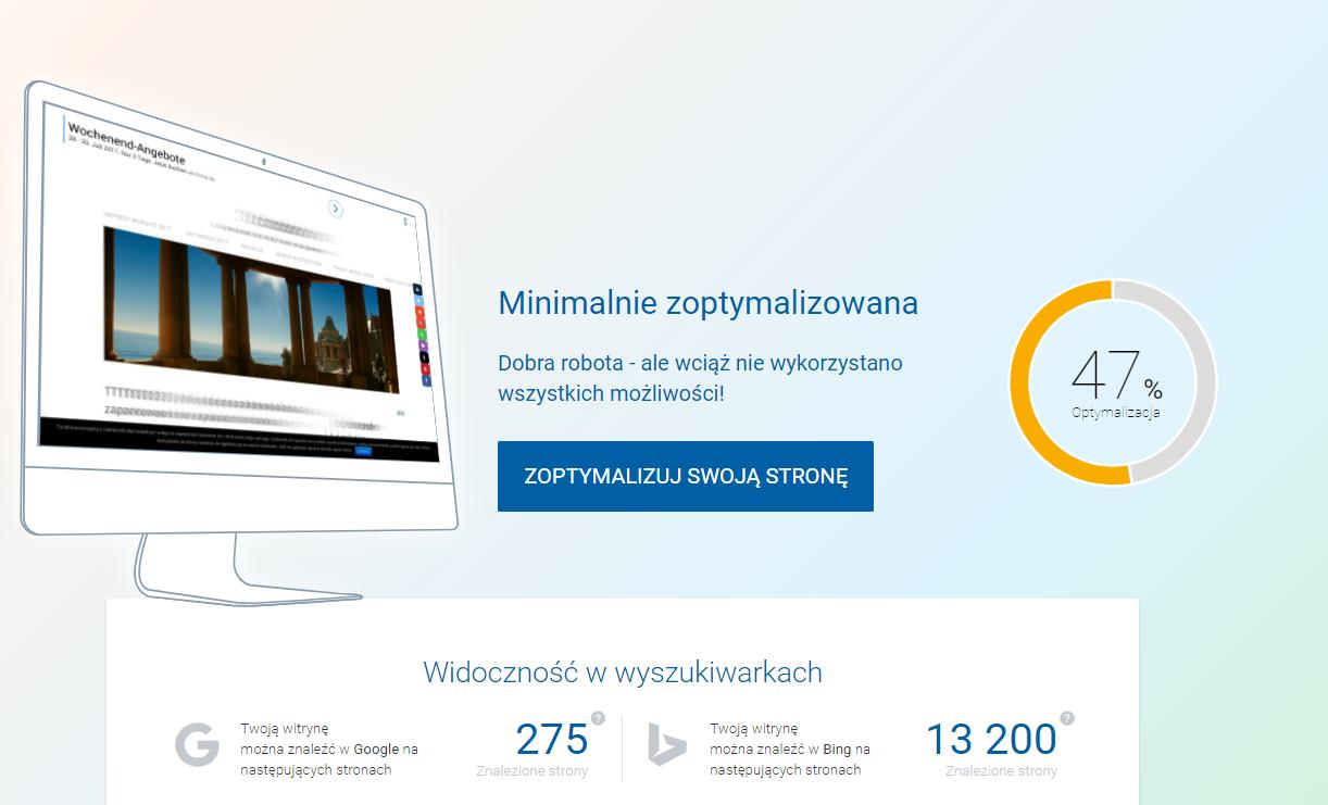 rankingCoach - Zakończenie konfiguracji - Poznaj pełny raport dotyczący Twojej strony WWW