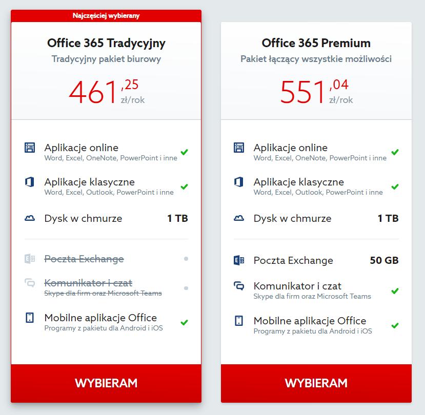 Home.pl - Office 365 - Dodaj interesujący Cię pakiet Office do koszyka