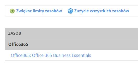 cp.market.home.pl - Wybierz typ usługi - Zasoby subskrypcji - Kliknij przycisk Zwiększ limit zasobów