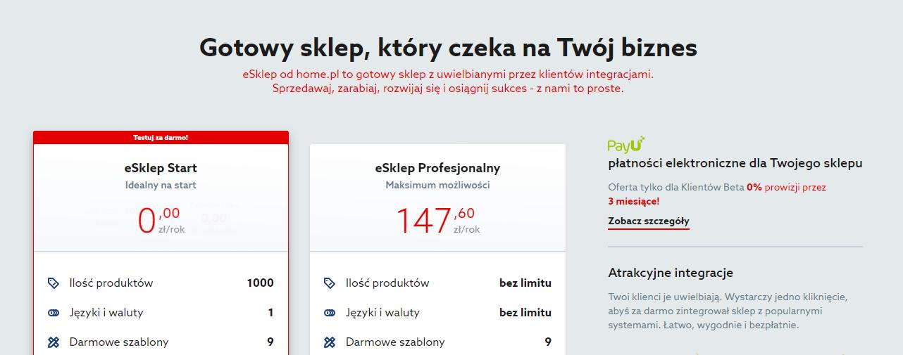 Home.pl - Sklepy - Sprawdź ofertę sklepu internetowego eSklep
