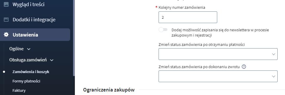 Automatyczna zmiana statusu zamówień