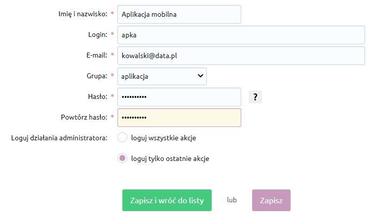 eSklep - Konfiguracja - Administracja, system - Administratorzy - Dodaj administratora - Podaj podstawowe informacje o użytkowniku