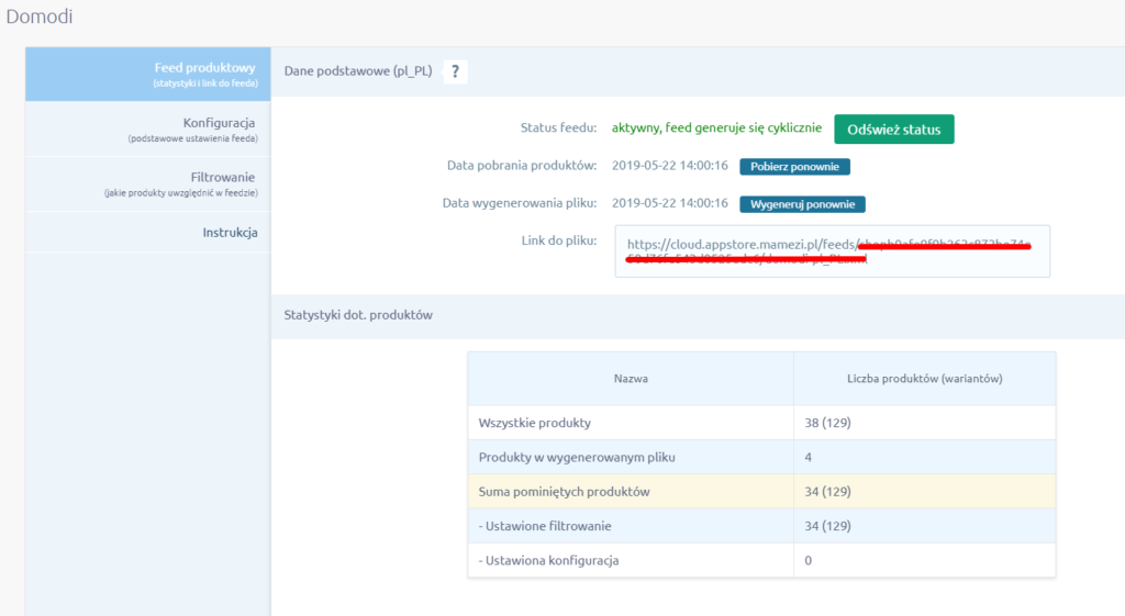 Aplikacja: Integracja z Domodi