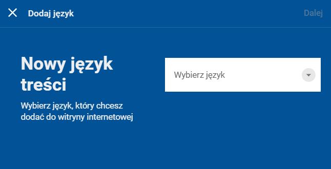 Dodawanie nowej wersji językowej strony WWW