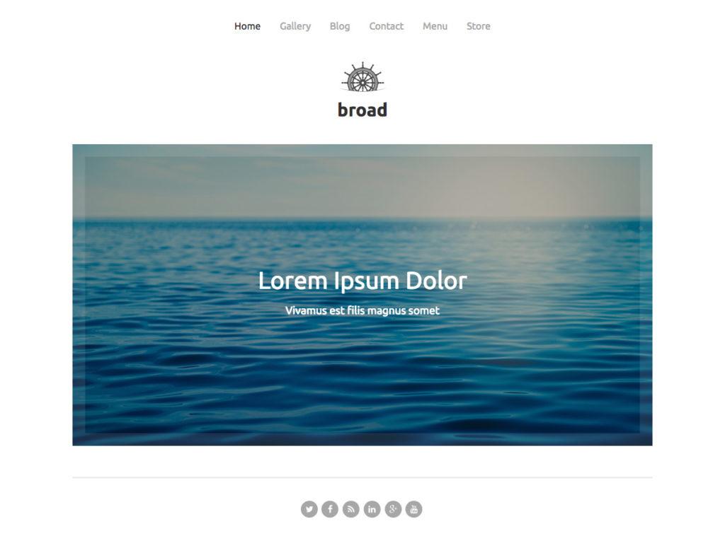 Szablon graficzny dostępny w pakiecie Click Web Premium - Broad